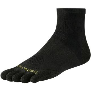 SmartWool PhD Run Toe Socks   Merino Wool  Ankle  Ultralight (For Men and Women)   BLACK (L )