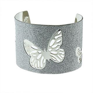 Butterfly Carved Flash Metal Bracelet