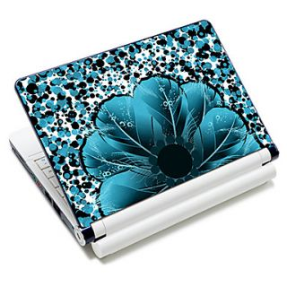 Flower Shape Feather Pattern Laptop Notebook Cover Protective Skin Sticker For 10/15 Laptop 18384