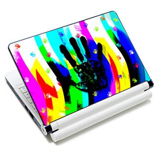 Colorful Handprint Pattern Laptop Notebook Cover Protective Skin Sticker For 10/15 Laptop 18392
