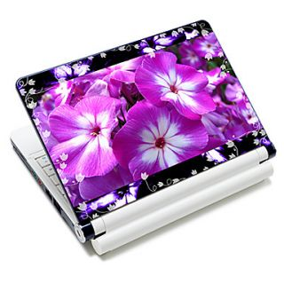 Purple Flowers Pattern Laptop Notebook Cover Protective Skin Sticker For 10/15 Laptop 18658
