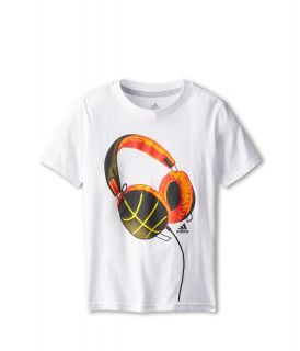 adidas Kids Phones Tee Boys T Shirt (White)