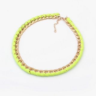 Fashion Neon Color Chain Womens Necklace(More Colors)