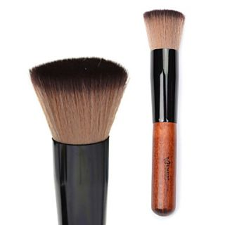 High Quality Synthetic Hair Flat Makeup Blusher/ Foundation Brush