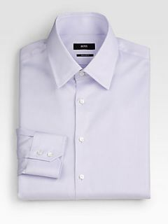 BOSS HUGO BOSS Regular Fit Dress Shirt   Purple