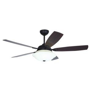 Ellington Fans ELF E VER54ABZ5LKRW Verona 54 Ceiling Fan w/Bowl light kit