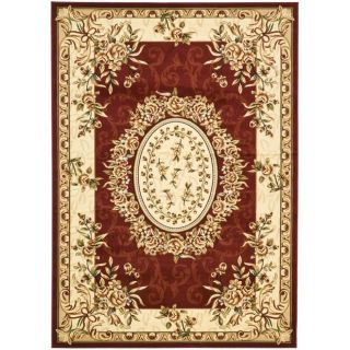 Safavieh Lyndhurst Collection Aubussons Red/ Ivory Rug (9 X 12)