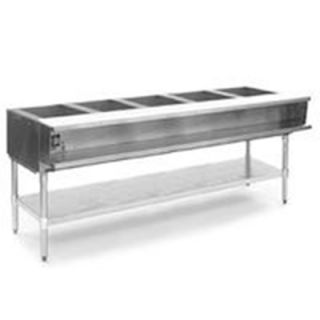 Eagle Group 79 Hot Food Table   5 Wells, Infinite, Cutting Board, Undershelf, 208v