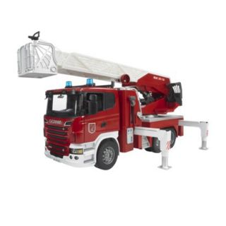 Bruder Scania R Series Fire Engine with Water Pump and Light and Sound