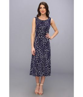 Jessica Howard Sleeveless Ruched Waist Womens Dress (Blue)