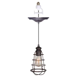 Worth Home Products Instant Pendant Light with Wire Cage Shade   PBN 6257 0011