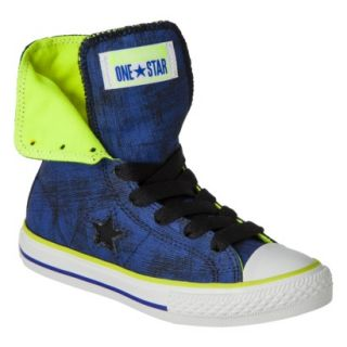 Boys Converse One Star High Top Sneaker   Navy 5