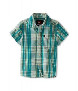 Quiksilver Kids Tidal S/S Button Up Boys Short Sleeve Button Up (Blue)