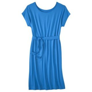 Merona Womens Knit Belted Dress   Brilliant Blue   S