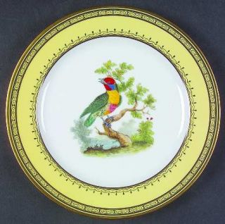 Royale (France) KingS Garden Yellow Salad Plate, Fine China Dinnerware   Black