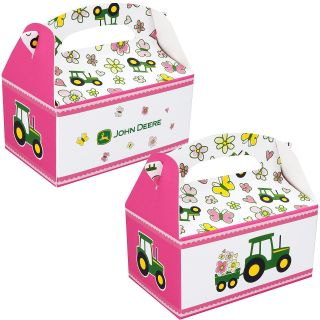 John Deere Pink Empty Favor Boxes