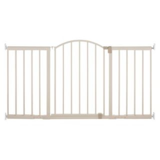 Summer Infant Metal Expansion Gate 6 Foot Wide Walk Thru Gate   Beige