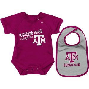 Texas A&M Aggies Colosseum NCAA Newborn Dribble Creeper Bib Set