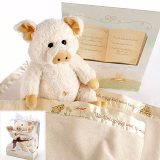 Baby Aspen Pig in a Blanket Gift Box Set with Optional Personalization