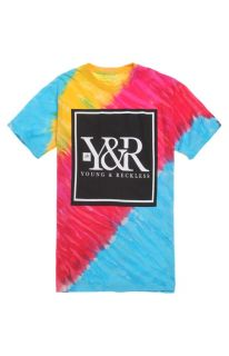 Mens Young & Reckless Tee   Young & Reckless Core Logo Tie Dye T Shirt