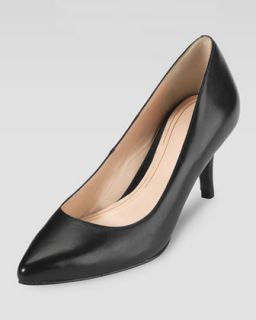 Womens Chelsea Pointed Toe Low Pump, Black   Cole Haan
