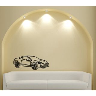 Mitsubishi Eclipse Smooth Speed Vinyl Wall Decal (Glossy blackEasy to applyDimensions 25 inches wide x 35 inches long )