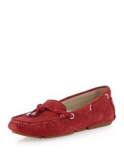 Lizzie Suede Moccasin, Red