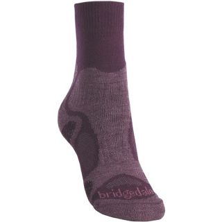 Bridgedale X Hale Trailblaze Socks   Merino Wool  Crew (For Women)   PLUM (S )