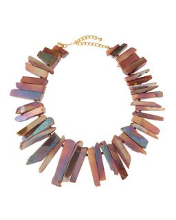 Agate Rocker Necklace, Pink