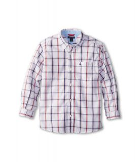 Tommy Hilfiger Kids Samuel Plaid Shirt Boys Long Sleeve Button Up (Beige)