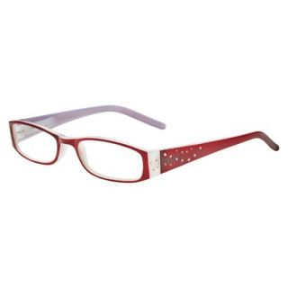ICU Crystal Rectangle Rhinestone Reading Glasses With Sparkle Case   +1.5