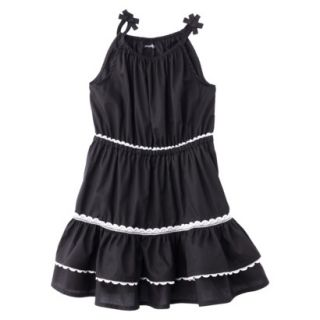 Genuine Kids from OshKosh Infant Toddler Girls Woven Dress   Black Tie 3T